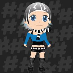 cool japan character