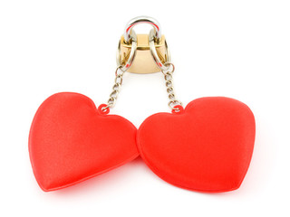 Two hearts on the lock