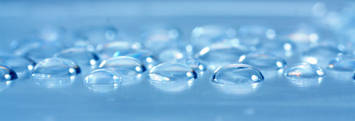 background with water drops on blue