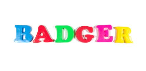 badger written in fridge magnets