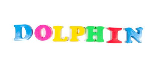dolphin written in fridge magnets