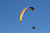 Paraglider in the sky.