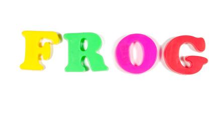 frog written in fridge magnets