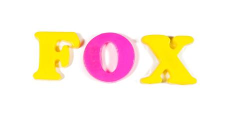 fox written in fridge magnets