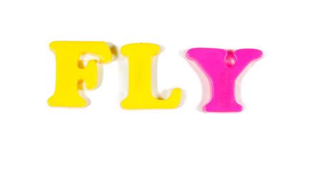fly written in fridge magnets