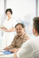 Older patient at consultation