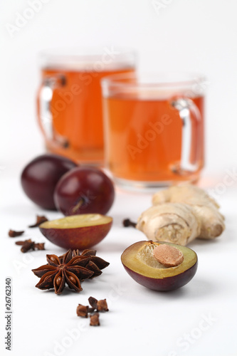 Plum tea with spices