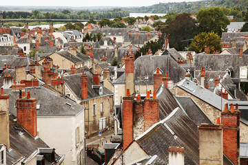 Roofs of Blois town