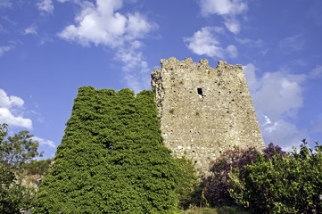 Ruins of an old castle, Camerota, Italy