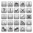 grey web icons and buttons