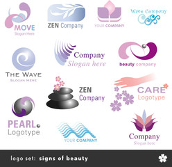 logo set: signs of beauty and wellness