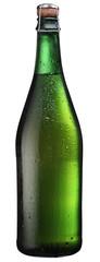 Sparkling wine bottle.