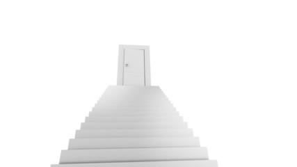 Door at the top of stairs. Open activity