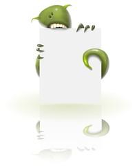 monster sign - green