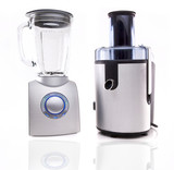 Modern juice extractor and Blender isolated on a white backgroun