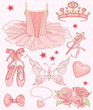Fototapety Princess Ballerina Set