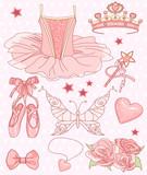 Fototapety Princess Ballerina Set