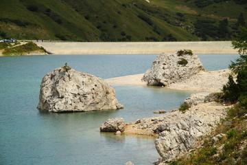 Rocks on Fedaia artificial lake