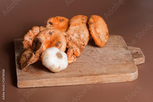 poster of champignons : lactaire délicieux - comestible