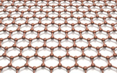 Model crystal lattice graphene