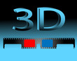 Abstract illustration of 3D glasses.