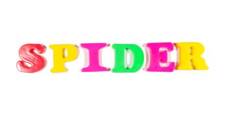 spider written in fridge magnets