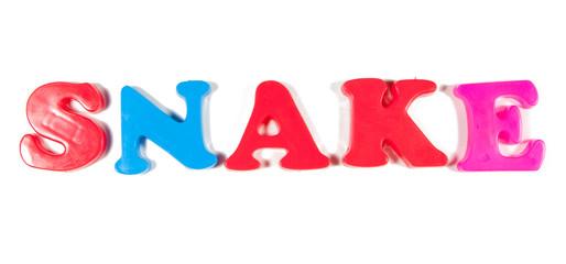 snake written in fridge magnets