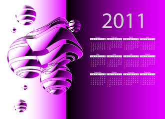 2011 calendar with abstract background. eps10.