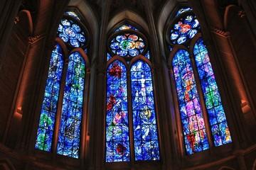 Kirchenfenster von Chagall in Reims
