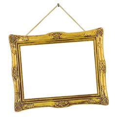 Retro frame at string