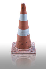Dirty traffic cone