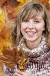 Young girl autumn portrait