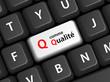 """Touche """"Q comme Qualité"""" sur Clavier (garantie totale publicité)"""