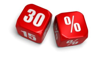 30 pourcent de réduction - gagnant de la remise