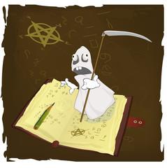 The magic book and evil spirits prisoner