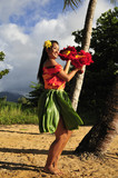 hula girl dancing