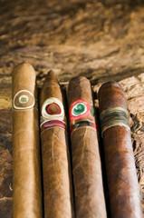 hand rolled nicaraguan cigars on tobacco leaf