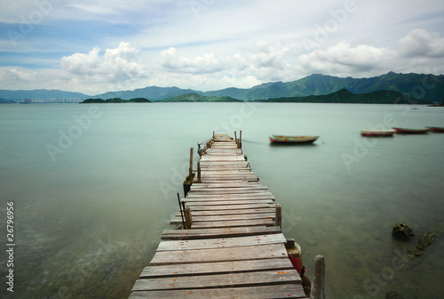 Fototapeta pier and boat
