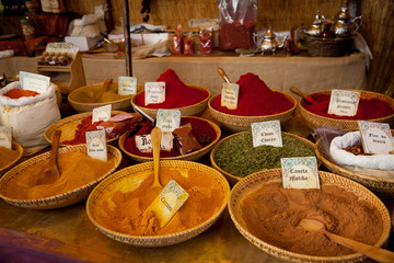 Vintage spices market in Spain. Any visible trademark
