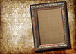 antique blank frame over vintage background