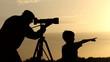 camera, photographer, silhouette