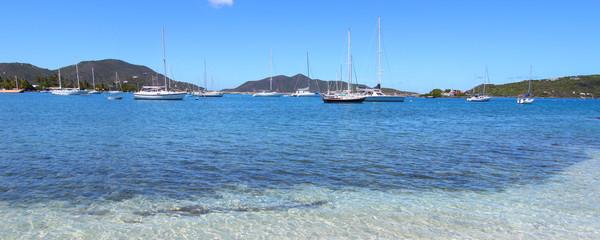 Scenic view on Tortola