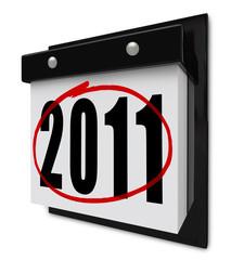 2011 New Year Circled - Wall Calendar
