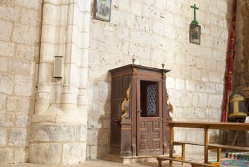 Confessionale della chiesa di Santa Maria, Hornillos del Camino