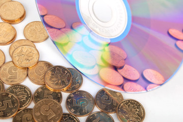 DVD with coins