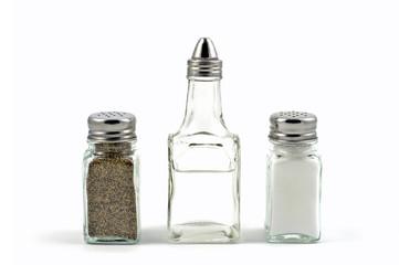 salt, pepper, vinegar