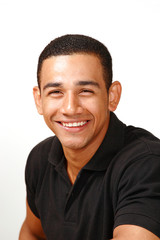 Laughing handsome latino male