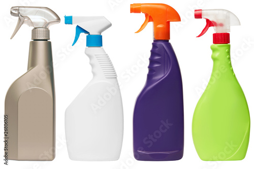set of four spray bottles