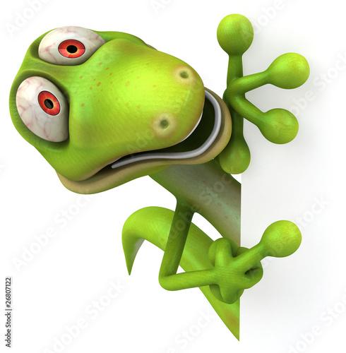 Staande foto Kameleon Lézard