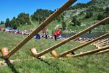 Fototapety Alphornbläser beim Alphornbläserfestival in Nendaz